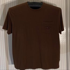 Tommy Bahama brown relax fit tee shirt.